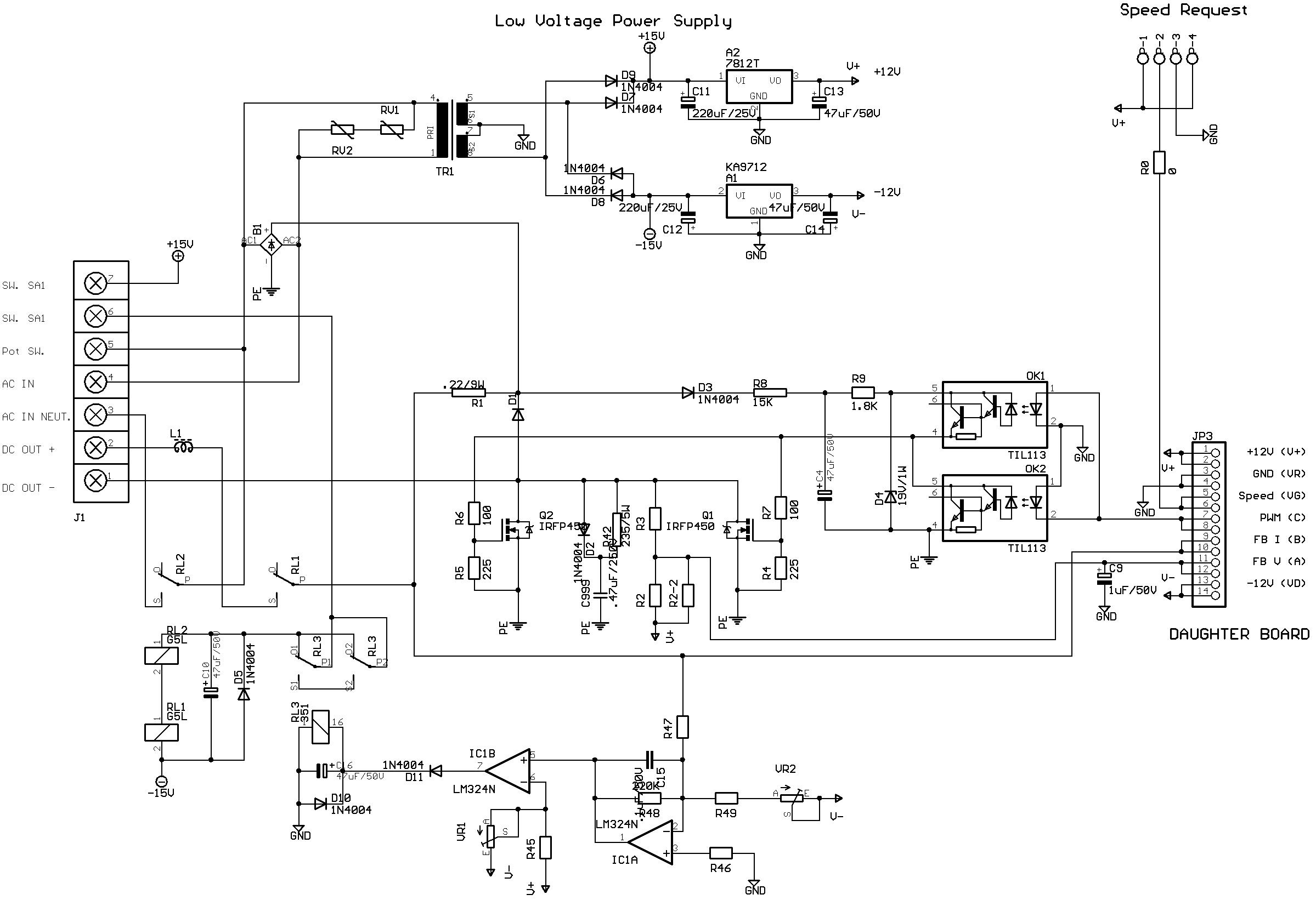 Motor Controller Repair Constant Speed Pwm Control Circuit Schematic Fc350bj Sch Main Board